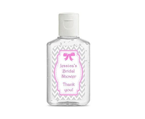 Hand Sanitizer Labels Purell 1 Oz. Bottle Bridal Shower
