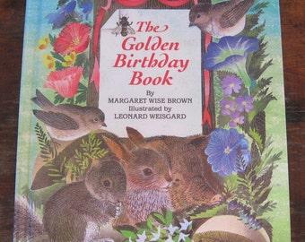 The Golden Birthday Book Vintage Oversized Golden Book by  Margaret Wise Brown - Illustrator Leonard Weisgard