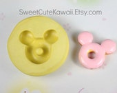 Mickey Mouse Donut Mold for Resin Polymer Clay Soap Wax