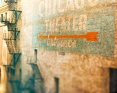 Chicago Theater | Color Photography | State Street | Teal Wall Art | orange, earth tones | urban home decor | Wall Art Print | Art for Walls