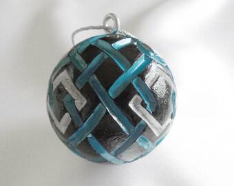 Carved Golf Ball, Christmas Ornament, Golf Gift For Golfer, Golf Gift for Men
