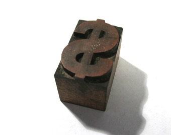 Vintage Wooden Letterpress Type Blocks Your Choice 1