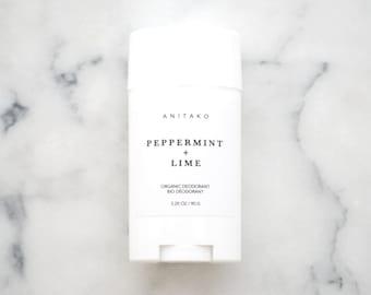 PEPPERMINT + LIME - Organic Deodorant, Natural Deodorant, Deodorizing Essential Oil Blend, Extra Strength, Aluminum Free