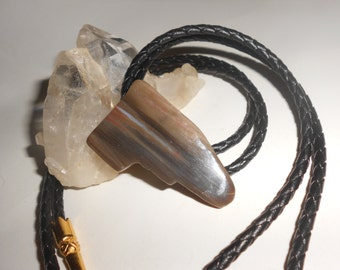 Petrified Wood Bolo Tie Earthy Yet Traditional Southwestern Neck Wear