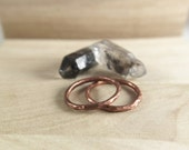 Copper Loop Stacker - Thick Hammered Round Copper Stacking Ring