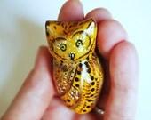 owl decor, owl totem, totem animals, miniature animals, bird art, painted owl, tiny art, tiny animals