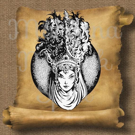 Moon Goddess Royalty Free Clip Art