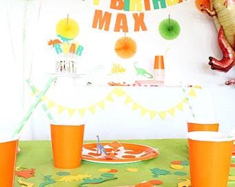 Dinosaur Birthday PARTY KIT!  Birthday Party in a Box! Dinosaur party supplies