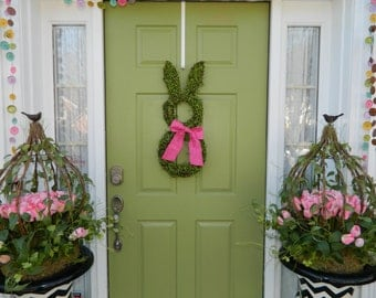 Spring Bunny Wreath - Free Shipping - Easter Wreath - Large Spring Wreath -Choose Bow