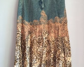 Denim gypsy skirt size large