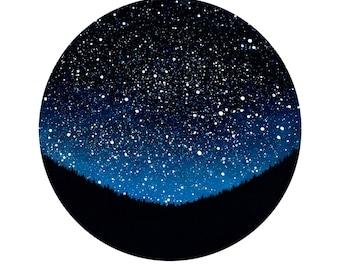 Night Sky Circle Print