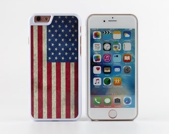 White iPhone 6 case iPhone 6s case vintage style the Old Glory - HTPW6008