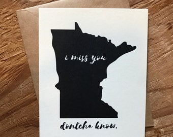 Greeting Card - Minnesota Dontcha Know, Midwest