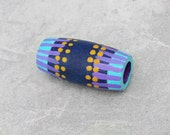 Dread Bead - Purple Dreadlock Bead - Wood Hand Painted Hair Bead - Purple Tribal Dread Bead