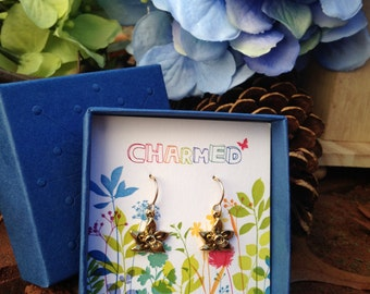 Gold Daffodil Earrings from our Charmed Collection