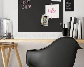 Chalkboard Wall Decal, Chalkboard Square, Chalkboard Memo, Blackboard Wall Sticker -  by Simple Shapes