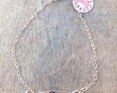 Rose Gold medical alert ID bracelet petite cute lightweight custom. Medical condition.