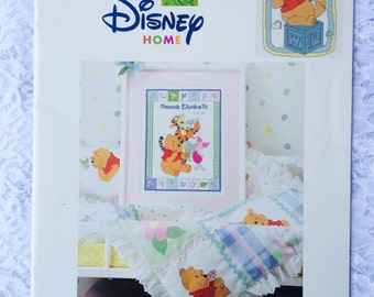 Baby Collection Counted Cross Stitch Pattern, Disney Home Pooh Collection, Winnie the Pooh, Piglet, Tigger, Eeyore