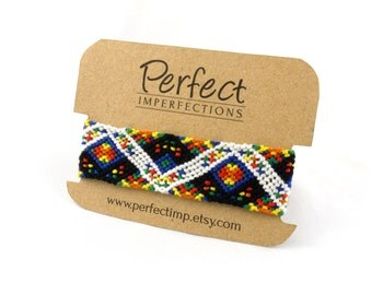 Epic Rainbow Wide Friendship Bracelets // PerfectImp Best Friend Gift / Handwoven Micro Macrame Pixel Bracelet / Personalized Handmade Gifts