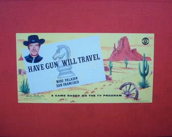 1959 HAVE GUN Will Travel Board Game Parker Brothers CBS Television Show