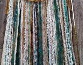 Gold, Cream,and Teal Dreamcatcher, Wall Hanging, 13 inch Dreamcatcher, Wall decor