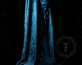 Crushed Velvet Cloak with satin lined pixie hood, summer weight, cape, pagan, elven, faerie