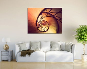 Canvas wall art, Paris photography, Paris decor, abstract wall art, photo on canvas, large wall art - Nautilus