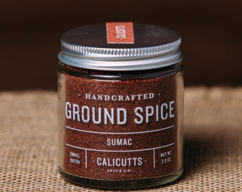 Sumac - Handcrafted Ground Spice - 2.5 ounces in Glass Jar, All-Natural and Gluten Free