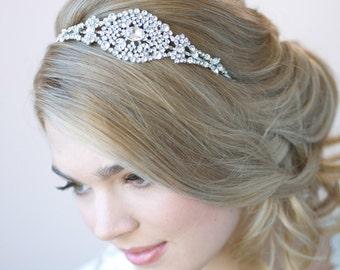 Crystal Headband, Bridal Hair Accessory, Rhinestone Bridal Headband, Bride Headband, Vintage Wedding Headband, Bridal Headpiece ~TI-3273