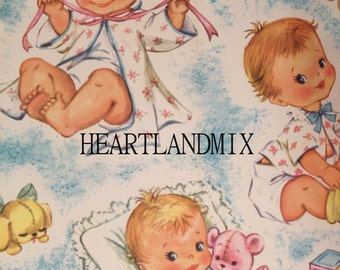 Vintage Baby Wrapping Paper Download
