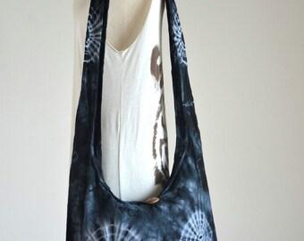 60s 70s Tie Dye Bag Hippie Bag Hobo Bag Sling Bag Cotton Shoulder Bag Boho Bag Crossbody Bag Sling Bag Purse Messenger Bag Gift Ideas