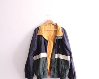 Reversible Colorblock 90s Windbreaker Jacket
