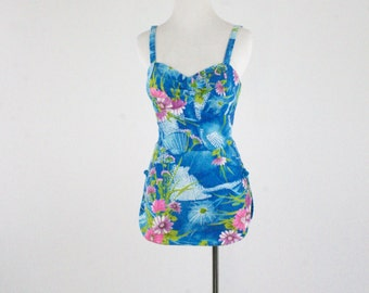 1960s Paradise Hawaii Swimsuit Matching Coverup Made in Honolulu
