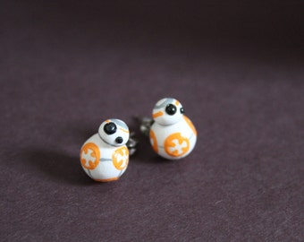Polymer Clay BB-8 Earrings