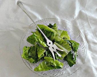 Gorham Sterling Silver Lettuce Fork, Lancaster Gorham Sterling Pattern, Lettuce Serving Fork, Antique Sterling Fork,