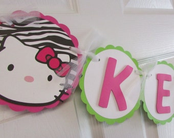 Hello Kitty Inspired Name Banner