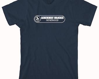 Achievement Unlocked Fatherhood Shirt - daddy, fathers day, christmas gift idea, new dad - ID: 704