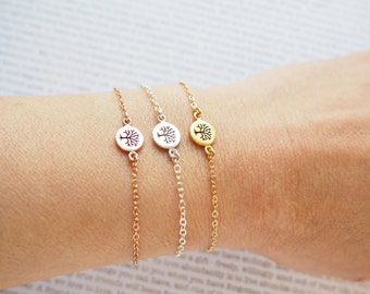 Tree of Life Bracelet, Sterling Silver Tree of Life Bracelet, Gold Tree of Life Bracelet, Rose Gold Tree of Life Bracelet
