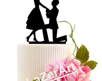 Wedding Proposal Cake Topper