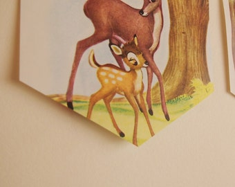 Bambi Vintage Book Bunting