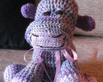 """Crocheted cow stuffed animal doll toy """"Patsy"""""""