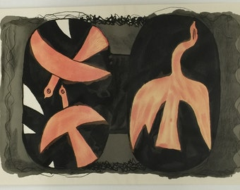 Georges Braque Three Birds - Free Shipping in Continental U.S.
