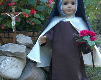 "Saint Therese the Little Flower Catholic Carmelite Nun Habit for 18"" American Girl and other dolls - FREE SHIPPING"