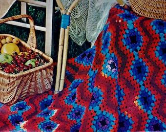 Walton Spring Granny Afghan Vintage Crochet Pattern Download