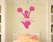 Cheerleading Gifts - Cheerleading Decal - Personalized Cheerleader Gift - Cheerleading - Girls Room Decor - Cheerleader