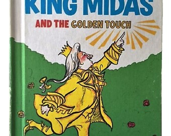 King Midas and the Golden Touch by Al Perkins, 1969, illustrated by Harold Berson, Dr. Seuss Beginner Books, Vintage Childrens Book