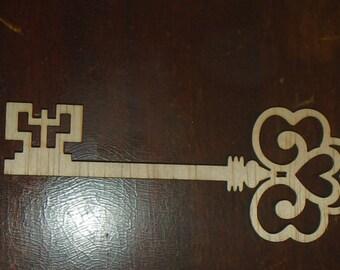 key cutout/ wood cutout/ LARGE