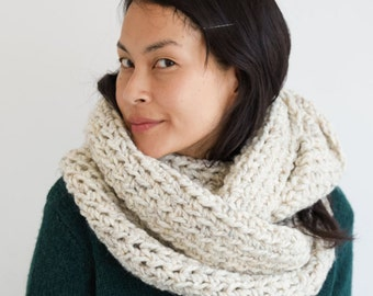 Oversized Circle Scarf in Barley