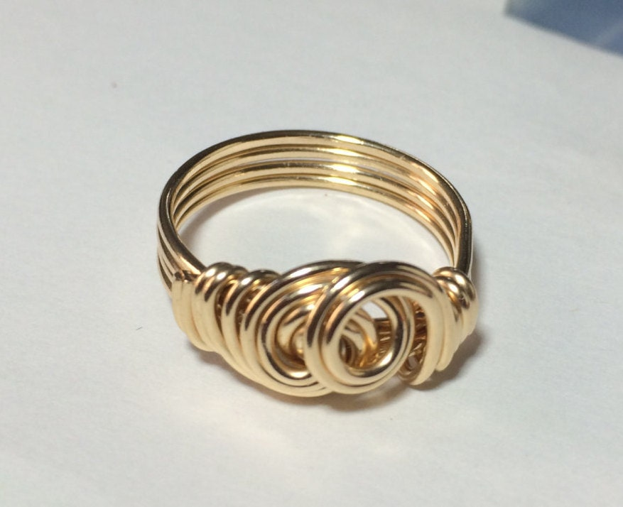 Gold Wire Wrapped Jewelry Handmade Ring 14k Gold Filled Ring