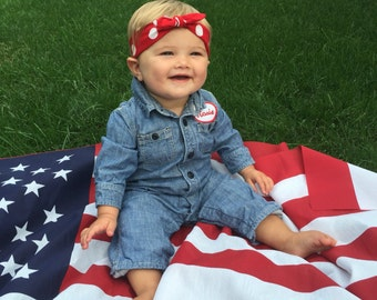Baby/Toddler - Lil Rosie the Riveter Jumpsuit Costume
